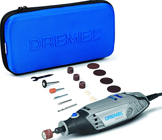 Dremel 3000 Rotary Tool 130 W, Rotary Multi Tool Kit with 15 Accessories, Variable Speed 10000-33000 rpm for Cutting, Sanding, Drilling, Polishing, Carving, Sharpening, Engraving, Cleaning