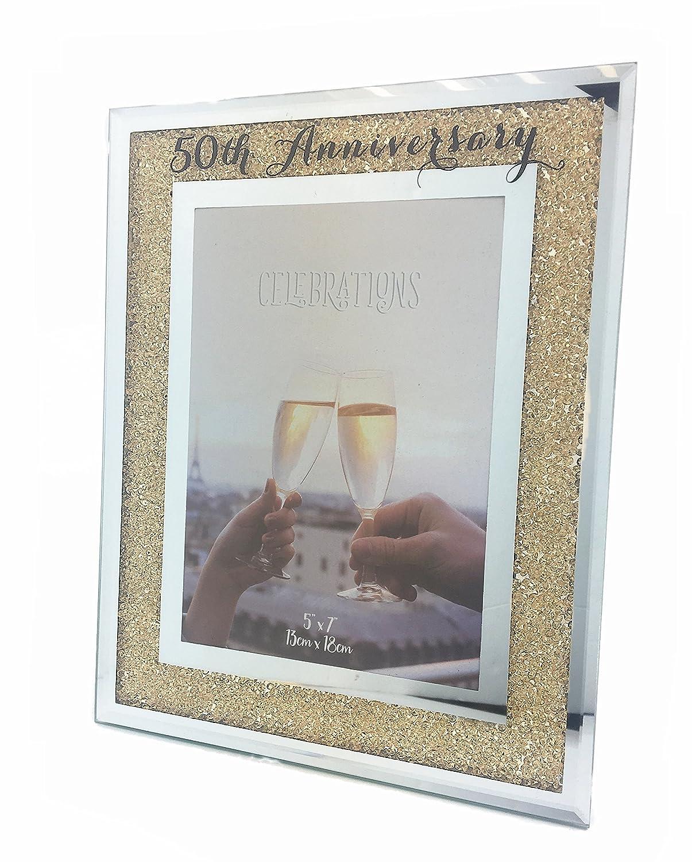 Unbekannt Bilderrahmen Zum 50. Hochzeitstag Golden Mirror Glas ...