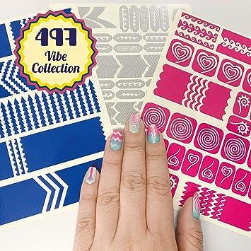 Amazon Nail Art Stencils Stickers Vinyl Vibe Collection 497