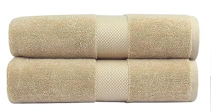 81f846f50a986 Cotton Craft - 2 Pack Luxuriously Oversized Hotel Bath Sheet - Linen - 100%  Ringspun