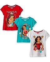 Disney Girls' Little Girls' 3 Pack Elena of Avalor T-Shirts