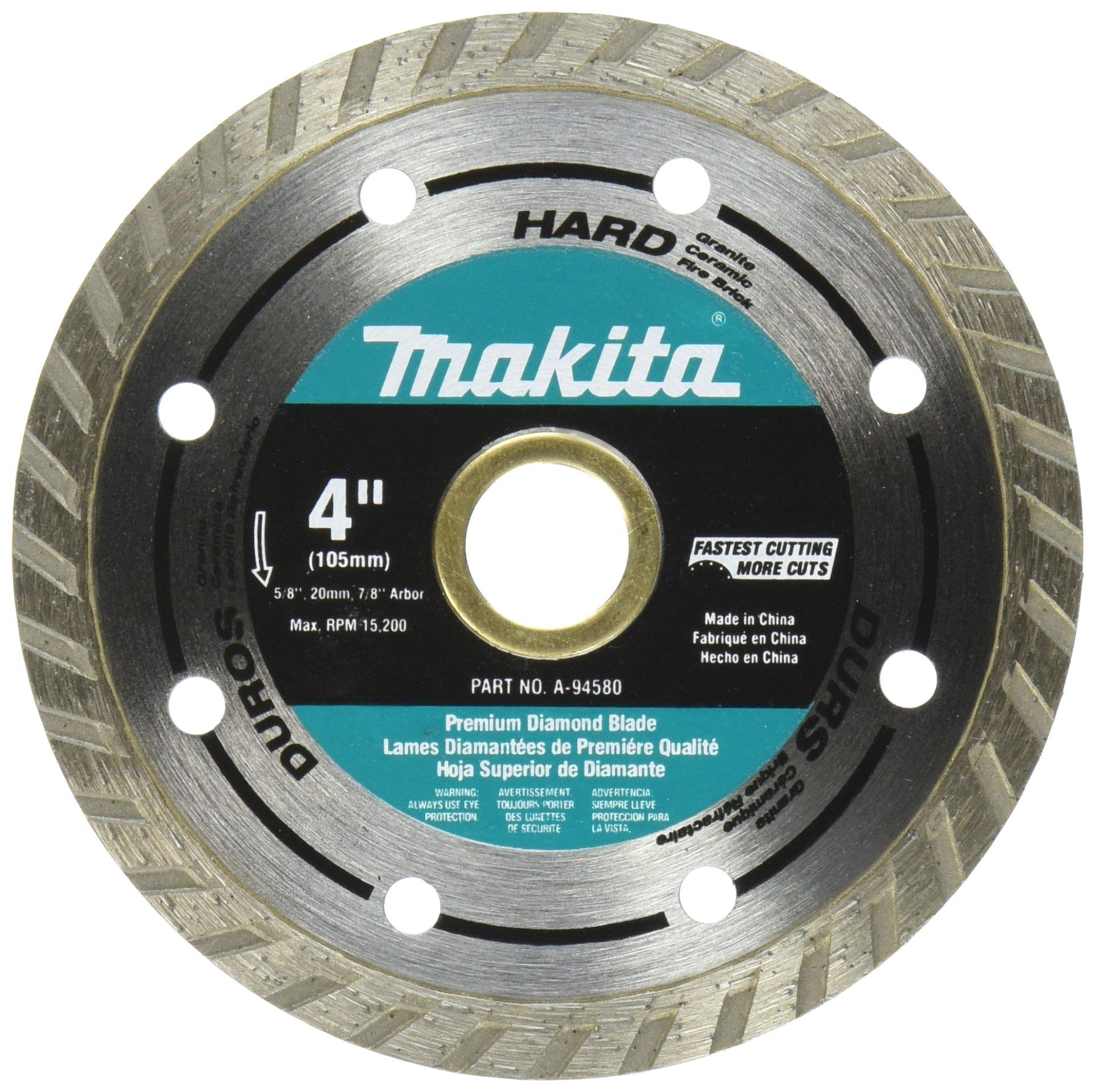 Disco de Diamante MAKITA A-94580 de material duro turbo de 4 pulg.