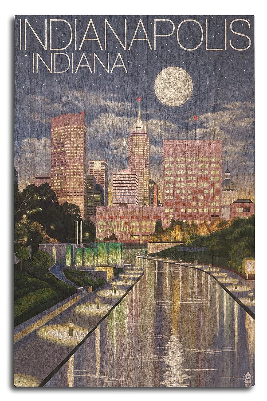 【送料無料/新品】 インディアナポリス、インディアナ – Indianapolis Sign at at Night Indianapolis 10 x 15 Wood Sign LANT-43074-10x15W B07366JFRB 10 x 15 Wood Sign, EYE MAX:0de64a04 --- ballyshannonshow.com
