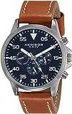 Akribos XXIV Men's AK773SSBU Watch With Brown Leather Band