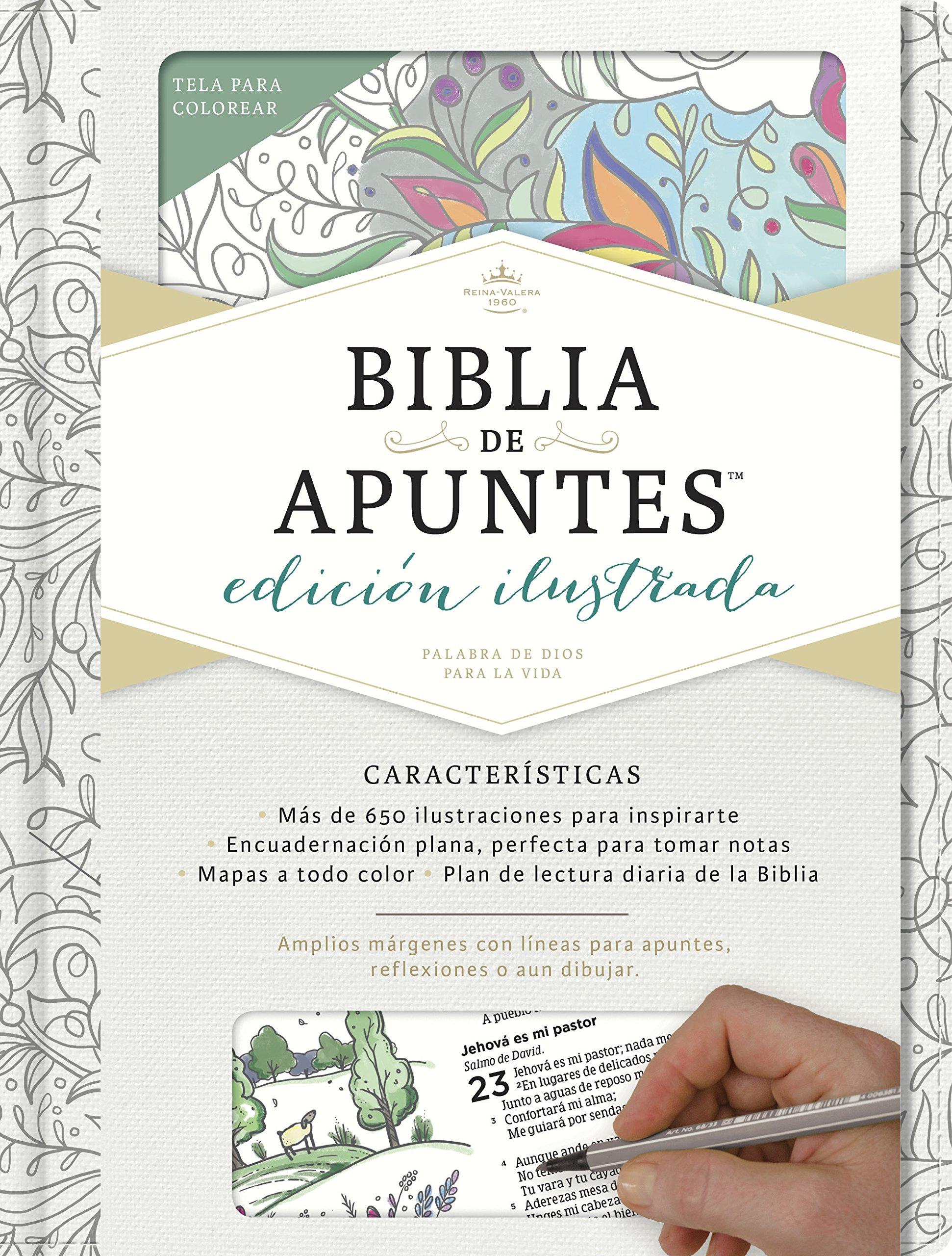 Rvr 1960 Biblia de Apuntes, Edición Ilustrada, Blanco En Tela Para Colorear: Amazon.es: Staff, B&H Espanol Editorial: Libros