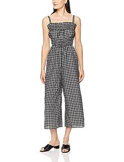 c94d2a2413c findersKEEPERS Women s Merci Checkered Sleeveless Shirred Waist Wide Leg  Jumpsuit
