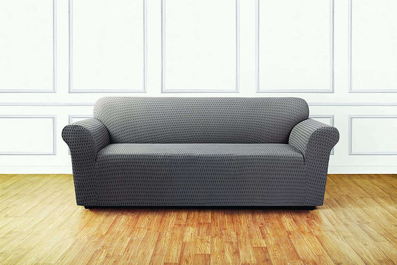 Amazon Sure Fit Stretch Sonya 1 Piece Sofa Slipcover