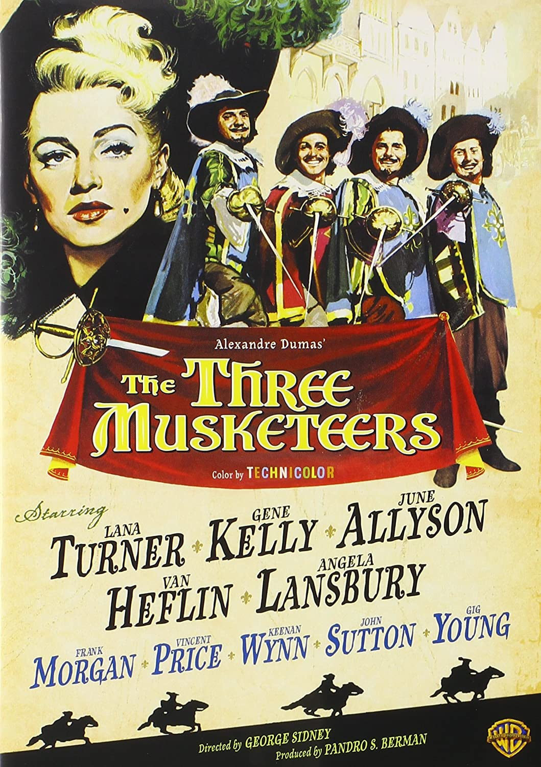 the book cover of the three musketeers