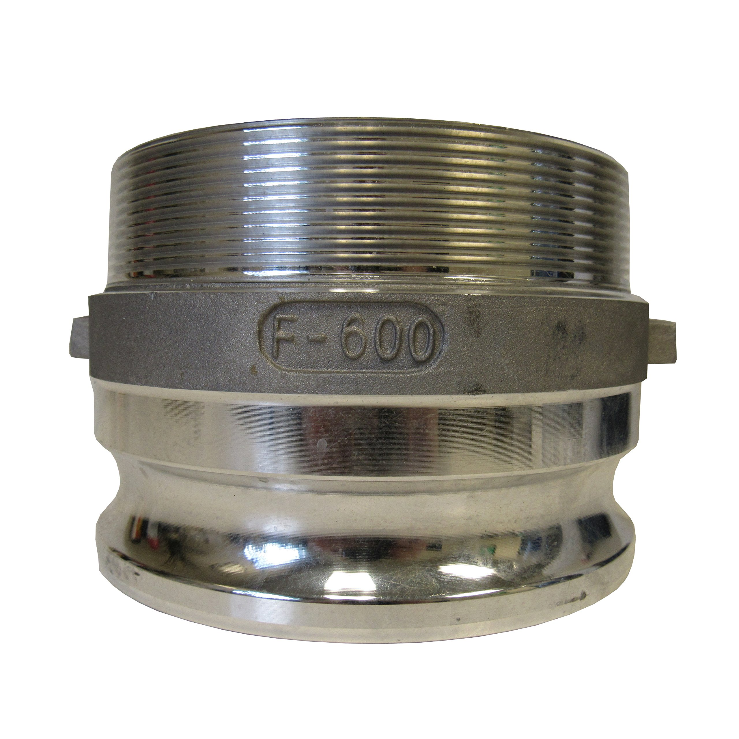 CAMLOCK - 600F ALUMINUM CAM & GROOVE FITTING; 6 INCH MALE ADAPTER/ MALE NPT
