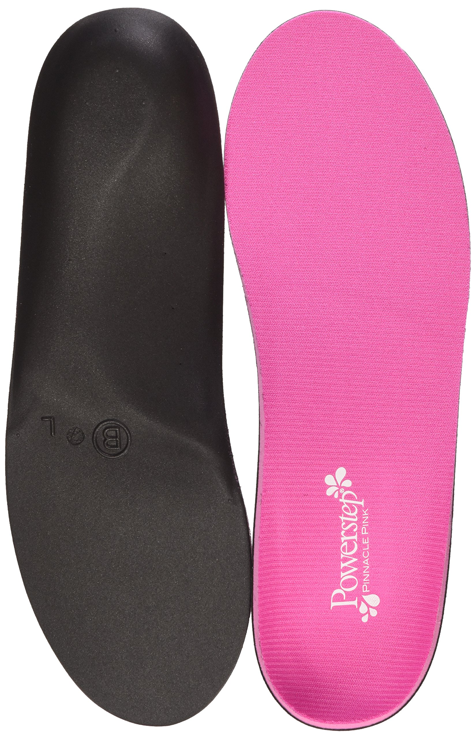 Powerstep Women's Pinnacle Shoe Insoles, Pink, Women's 6-6.5