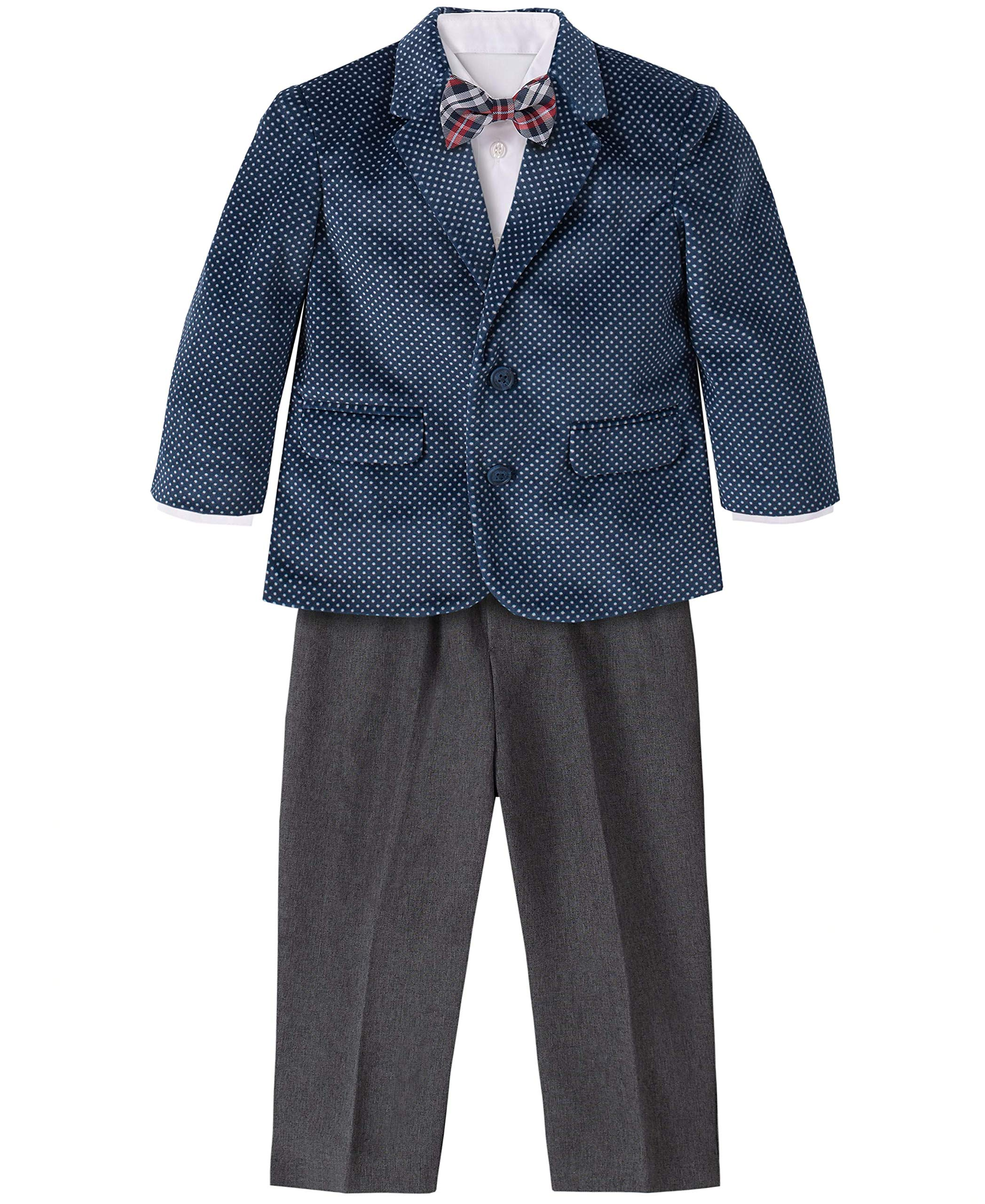 Nautica Baby-Boys 4-Piece Suit Set with Dress Shirt and Bow Tie Suit Jacket Pants