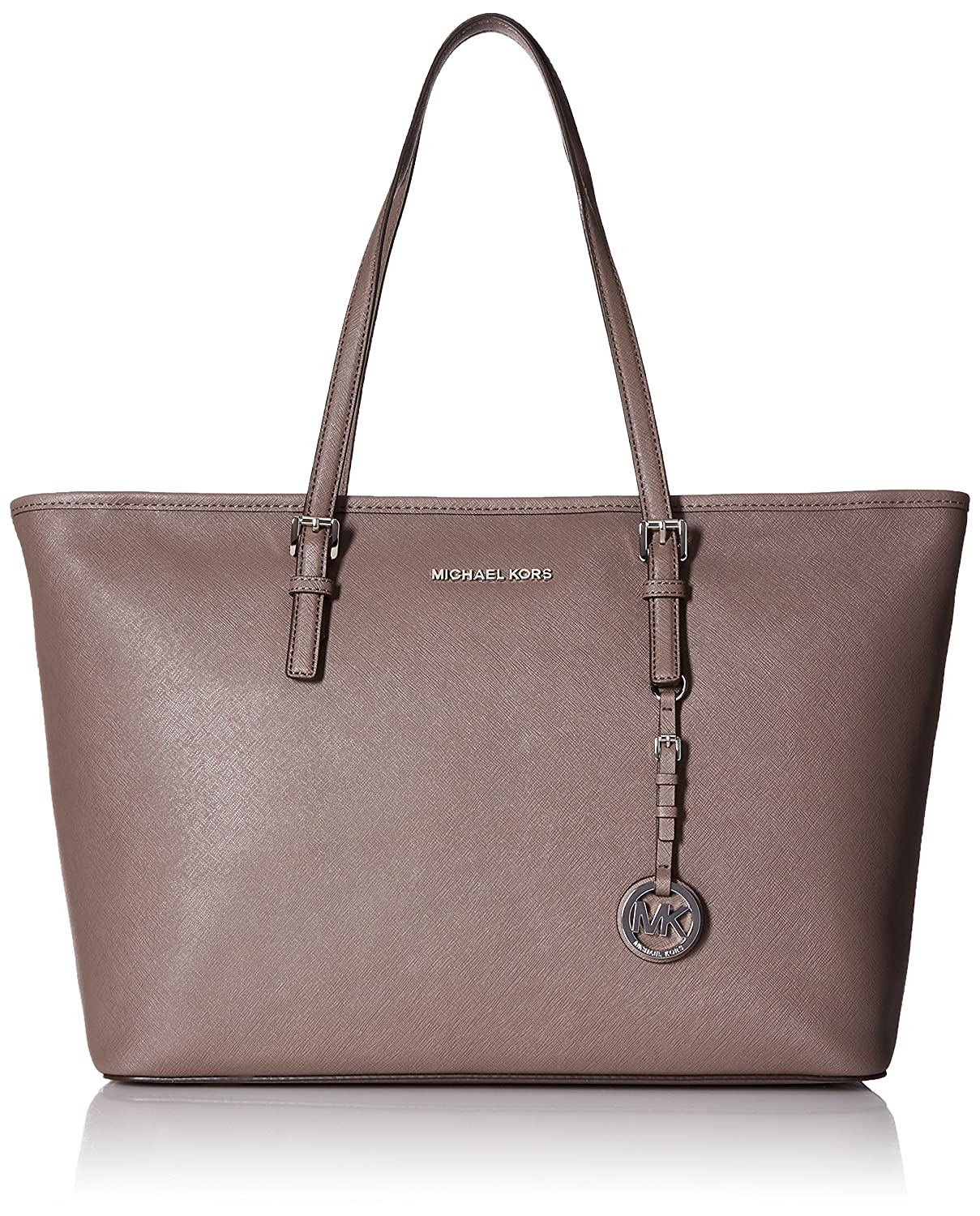 1781eaef68b5ec Michael Kors Jet Set Travel Medium Saffiano Leather Top-Zip, Borsa Tote  Donna, Grigio (Cinder), 43x30x12 cm (W x H x L): Amazon.it: Scarpe e borse