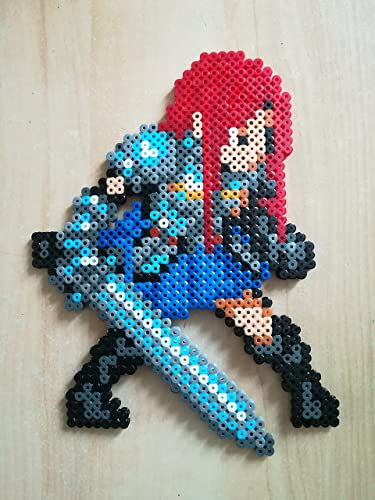Pixel Art Perler Beads Fairy Tail Erza Amazon Co Uk Handmade