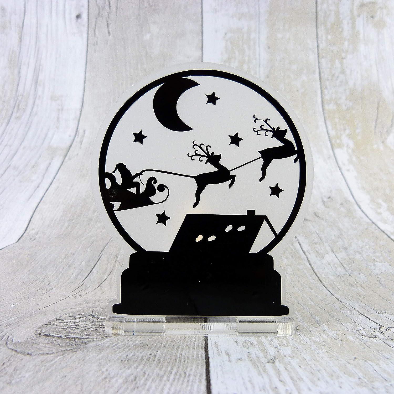 Christmas snow globe LED Tea light candle holder