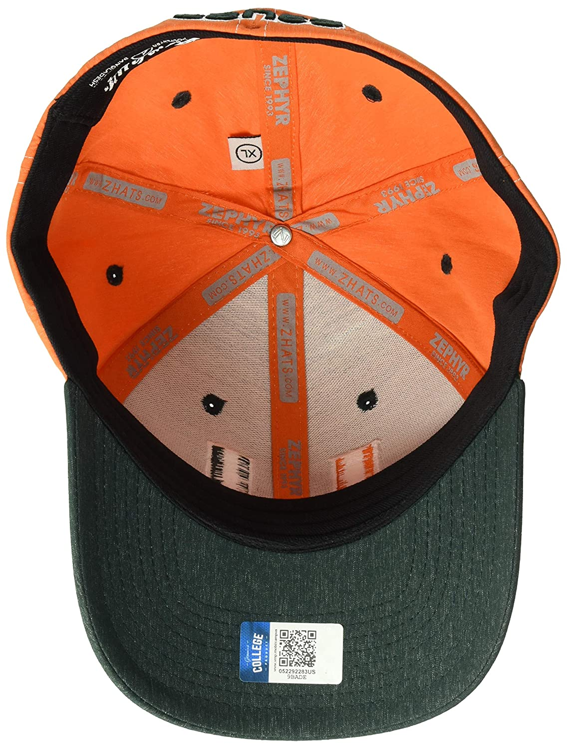 NCAA Zephyr Miami Hurricanes mens Clash Waterproof Performance Hat Forest Green X-Large