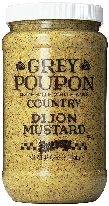 amazon com grey poupon country dijon mustard 48 oz jar pack of