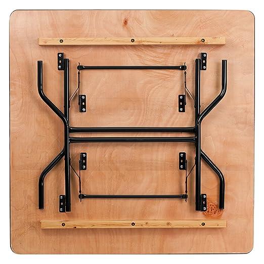 Amazon.com: Mesa de banquete plegable cuadrada de madera de ...