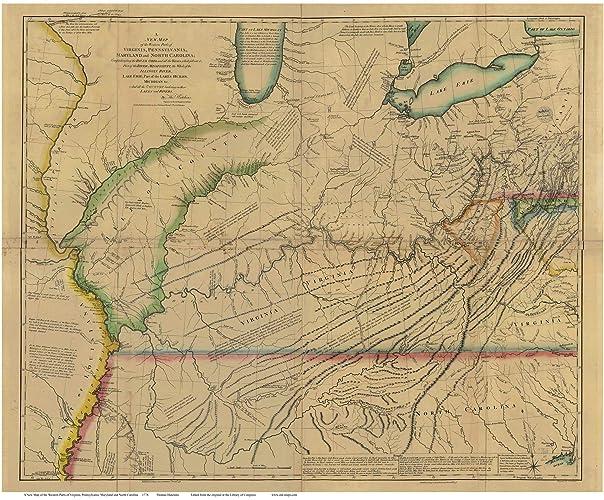 Amazon.com: Western Parts of Virginia, Pennsylvania, Maryland and ...