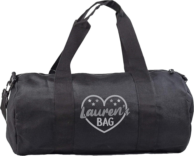 Personalised Name Bag Gymwear Gym Duffle Cylinder Uniform Kit Bag Hippowarehouse