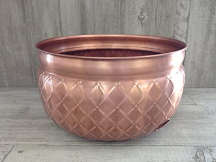 Unique Arts Mild Steel Large Hose Pot Copper Finished