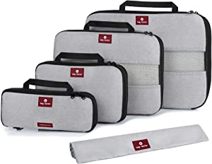 Compression Packing Cubes for Travel - Bag Factor Premium Luggage Organizer Set