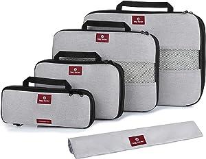 Compression Packing Cubes for Travel - Bag Factor Premium Luggage Organizer Set