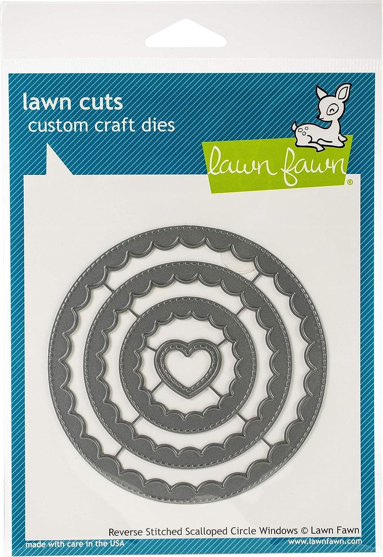 Lawn Fawn Lf1801 Ventana de c/írculos festoneados