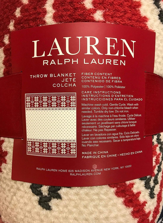 Lauren Ralph Lauren Red Snowflakes Throw
