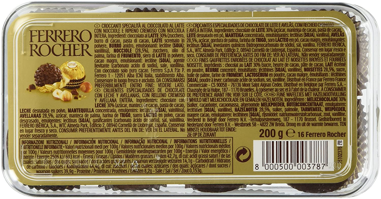 Amazon.com : Ferrero Rocher 16 Piece Gift Box : Gourmet Chocolate ...