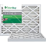 FilterBuy 20x25x2 MERV 8 Pleated AC Furnace Air Filter, (Pack of 2 Filters), 20x25x2 – Silver