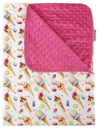 Carseat Baby Blanket Cotton Cactus Minky backing 23 colors Carseat Blanket Crib Blanket Minky Blanket