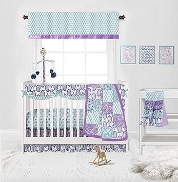 Bacati Space Multicolor Boys Cotton Crib Set with Bumper Pad 10 pc Crib Set 10 pc Crib Set