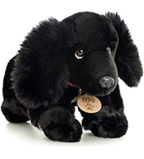 LUPO The Black Cocker Spaniel Dog Soft Plush Toys 35cm By Toyland [Toy]