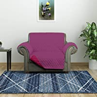 '@home by Nilkamal Reversible 1 Seater Sofa Cover with 1 Cushion Cover