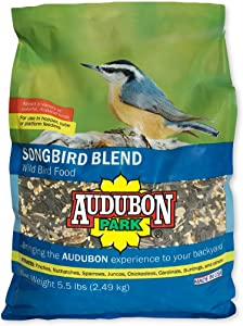 Audubon Park 12230 Songbird Blend Wild Bird Food, 5.5-Pounds, 4.5 lb, Green