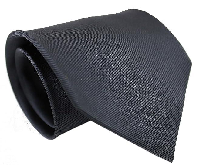 Rotfuchs Corbata seda corbata 100% seda gris uni R-144: Amazon.es ...
