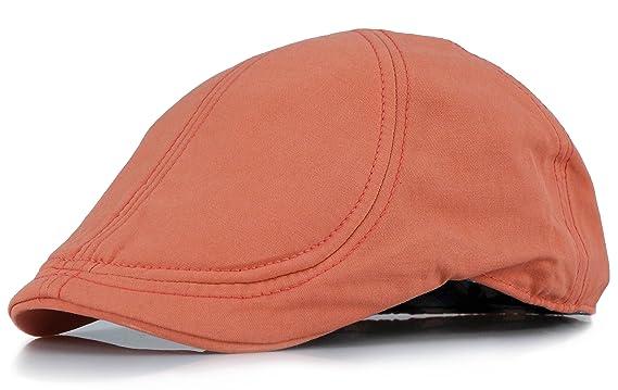 892aad0fe6b98 Men s Duckbill Summer Colorful Gatsby Cotton Ivy Cap Golf Driving Newsboy  Hat (S M