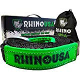 "Rhino USA Recovery Tow Strap 2"" x 20ft - Lab Tested 20,933lb Break Strength - Heavy Duty Draw String Bag Included…"