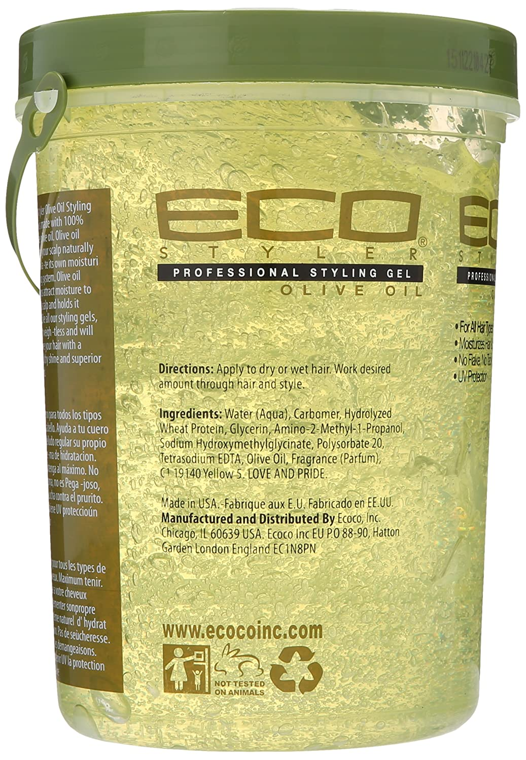 Amazon Ecoco Ecostyler Styling Gel Color Treated Max Hold 10