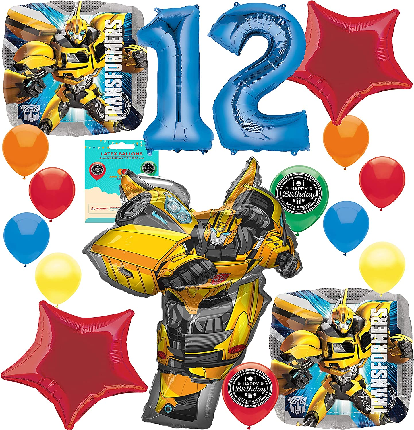 Amazon Bumble Bee Party Supplies Choose Your Own Age Birthday Balloon Decoration Bundle For 13th Toys Games