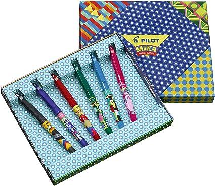 Pilot FriXion Ball Mika - Pack de 6 bolígrafos, multicolor: Amazon ...