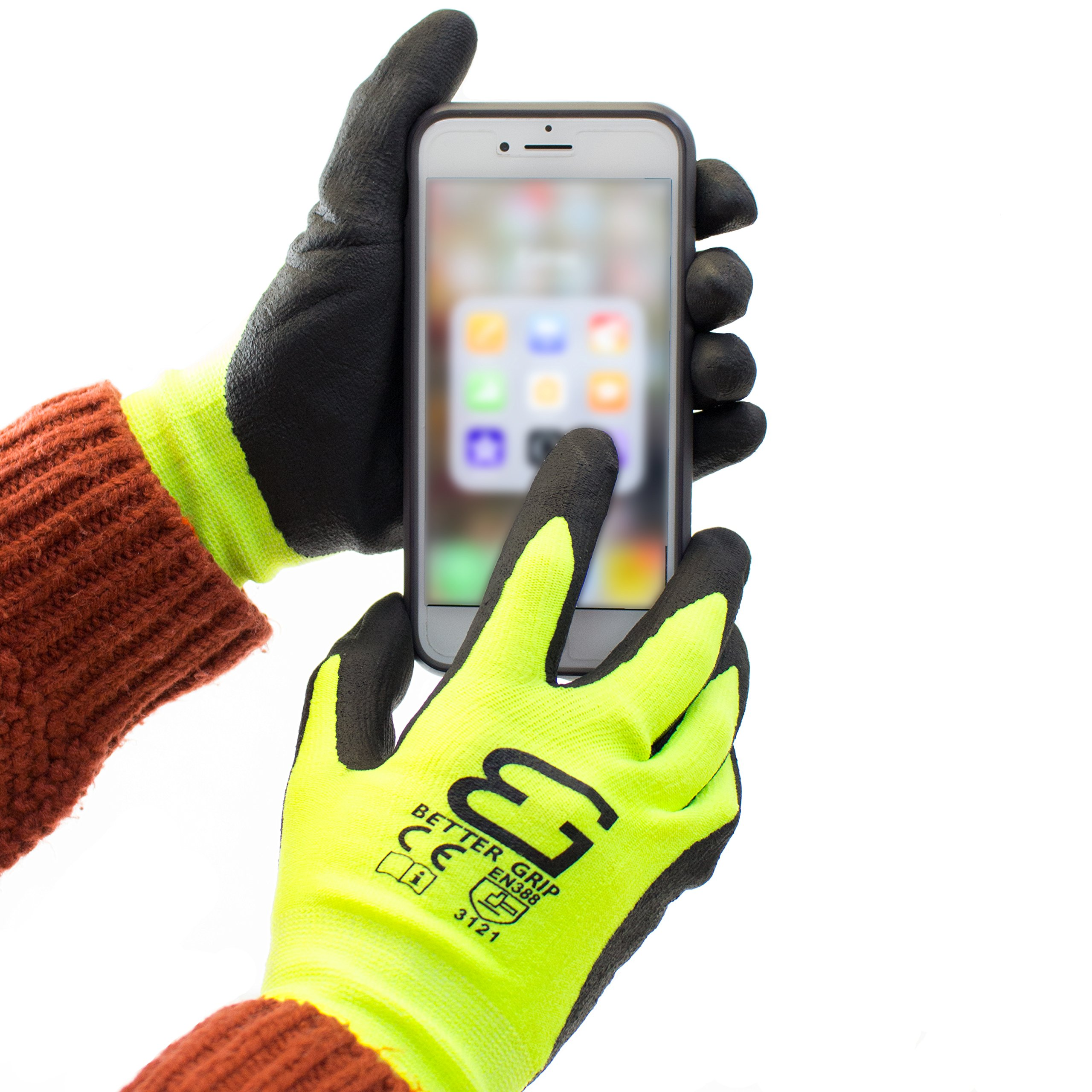 Spidergard SPL-RR50 50 Foot Wire Rope Self-Retracting Lifeline with Swivel Hook and Carabiner w/ Micro Foam Work Glove by Spidergard (Image #9)