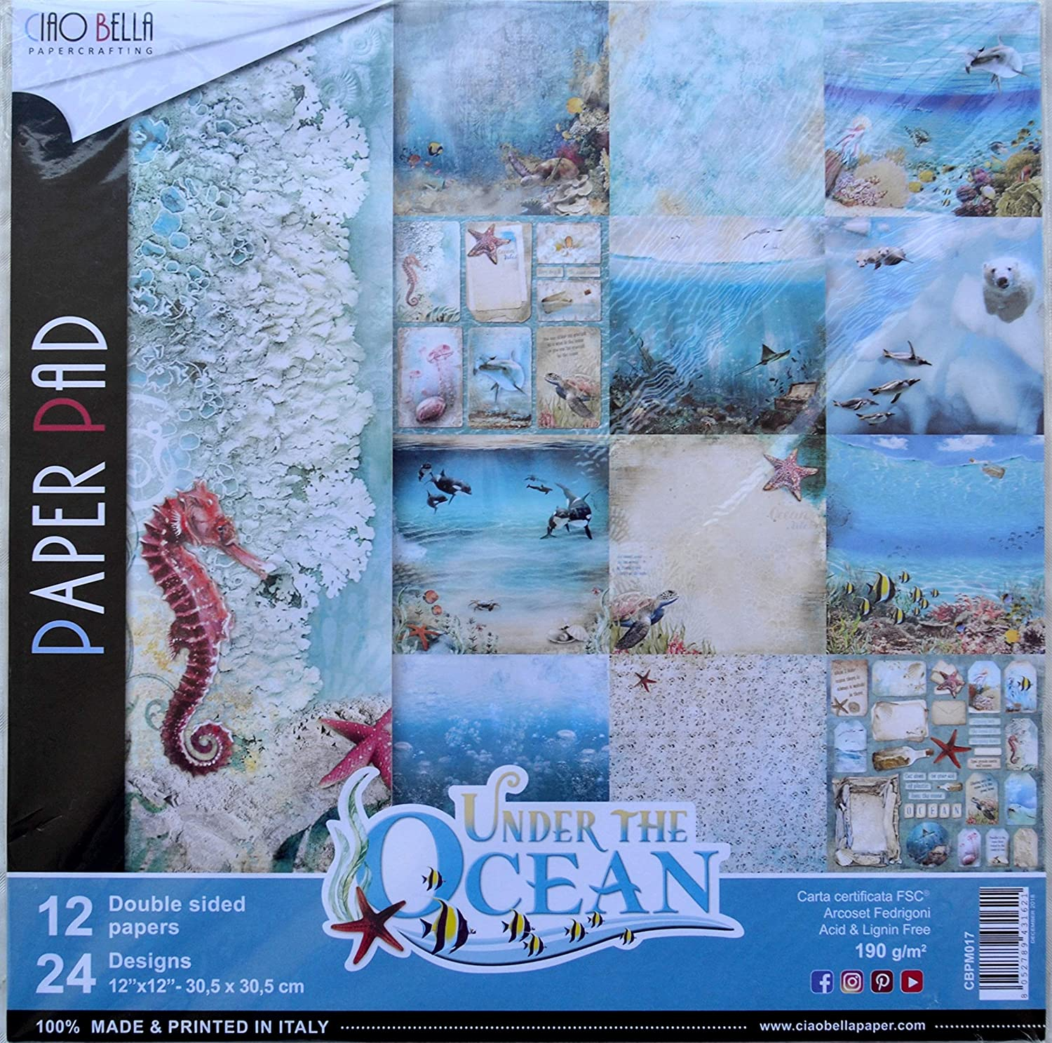 Carta Scrapbooking Time For Home 30 x 30 cm Ciao Bella Paper