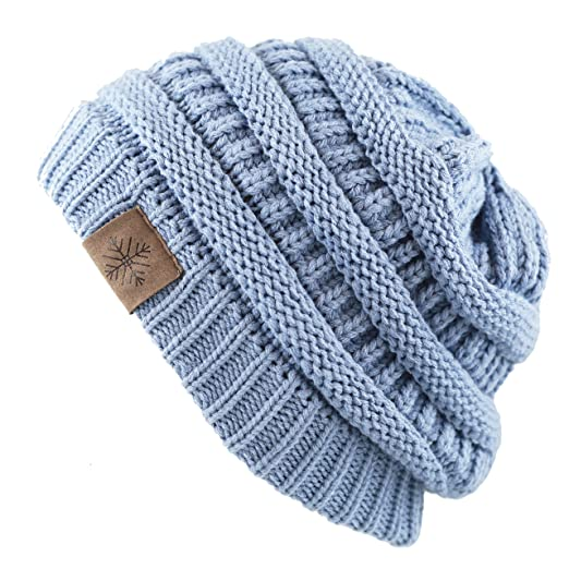 56c16627f3031 THE HAT DEPOT 1400bn2120 Thick Cable Knit Winter Beanie (Blue) at ...