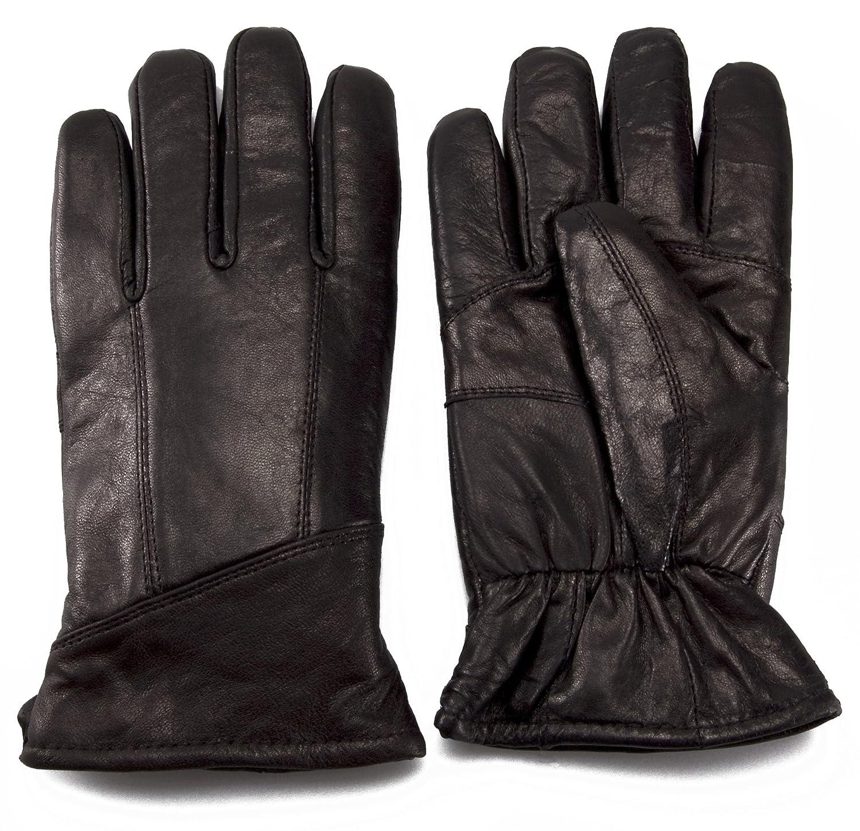 Mens leather gloves amazon uk - Mens Black Luxury Genuine Leather Gloves With Sheepskin Wool Lining Sizes Small To Extra Large