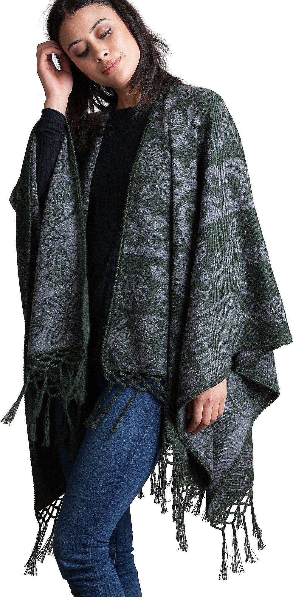 Grace Reversible Peruvian Alpaca Wool Shawl