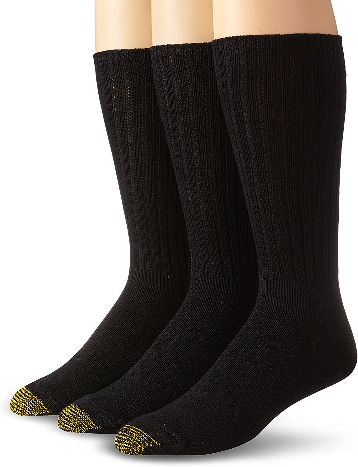 Gold Toe Men's Cotton Fluffies Crew Socks, 3 Pairs