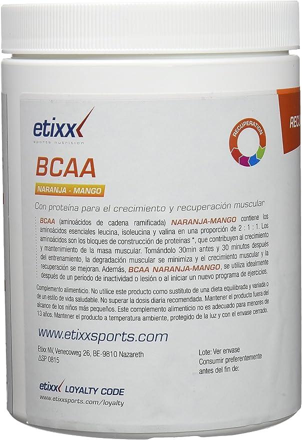 Etixx BCAA Powder, Sabor a Naranja y Mango - 300 gr: Amazon ...