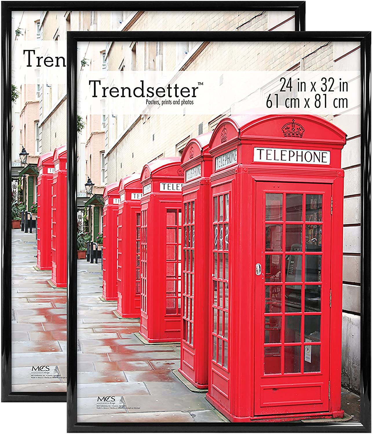 MCS Trendsetter Poster Back-Loading Wall Art & Puzzle Frame, 24 x 32 in, Black, 2 Count