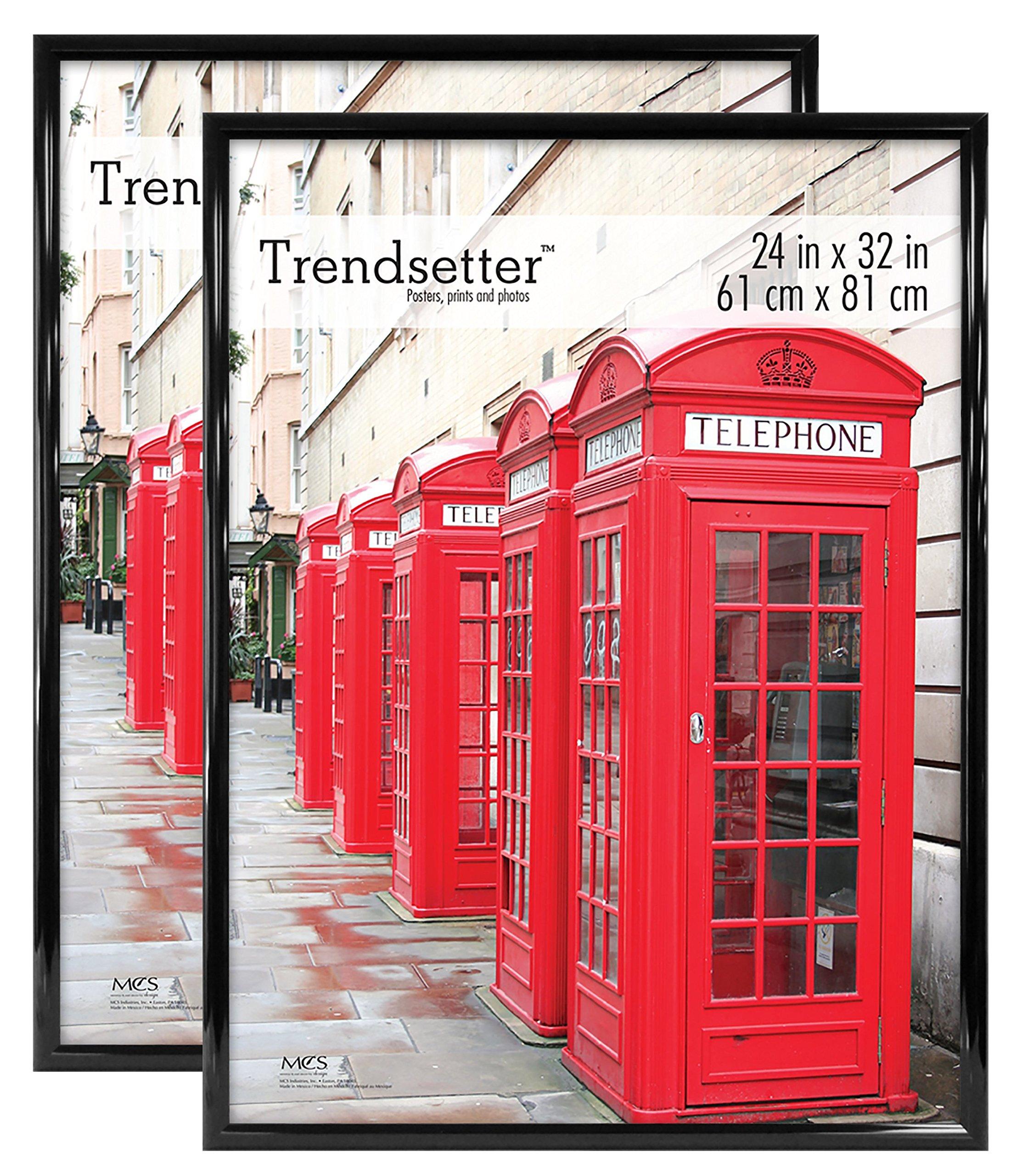 MCS Trendsetter 24x32 Inch Poster Frame (2 Pack), Black (65685) by MCS